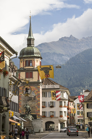 Tuermli in the square of the cantonal capital of Altdorf in the Canton of Uri