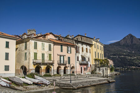 dyllic: Rezzonico - dyllic little fishing village situated on Lake Como Editorial