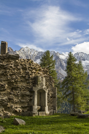 world war 1: Forte Strino - one of the many forts around the Passo Tonale dates from the time of World War 1 Stock Photo