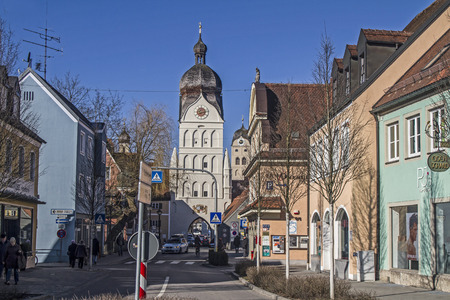 Erding - idyllic county town northeast of Munich with late Gothic city center Reklamní fotografie - 37387515