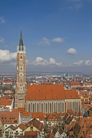 landshut: The church of St. Martin in Landshut is 133 meters, the tallest brick building in the world