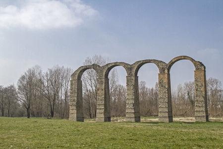 Romeins aquaduct in Acqui Terme in Piemonte
