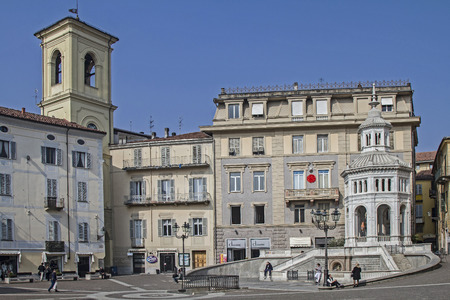 Hot springs in Acqui Terme donates about 75 ° C hot thermal water in the center of the city. Editorial