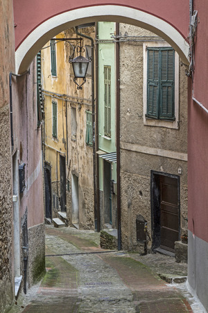 Impressions and details from the small Ligurian village of  Castel Vittorio photo