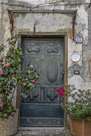 impressions: Impressions and details from the small Ligurian village of Ceriana Stock Photo