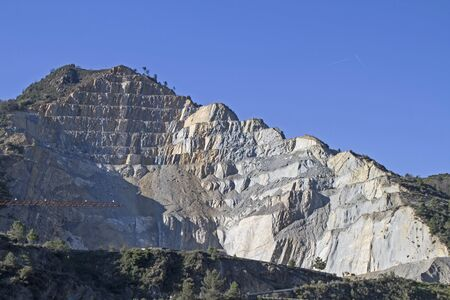 rock strata: Giant stone quarry in Liguria in Ventimiglia