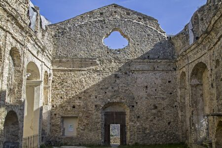 struck: A massive earthquake struck in 1887 the small village Baiardo where hundreds of people were killed when the roof of the church collapsed.