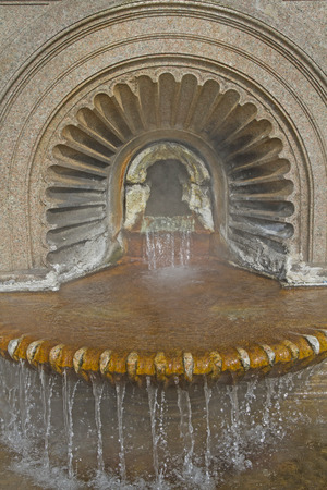 donates: Hot springs in Acqui Terme donates about 75 ° C hot thermal water in the center of the city. Stock Photo