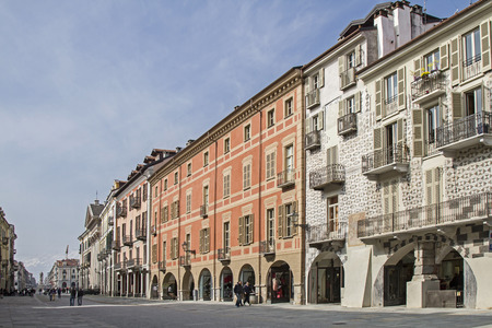 via: The Via Roma is the main artery of the old Cuneo