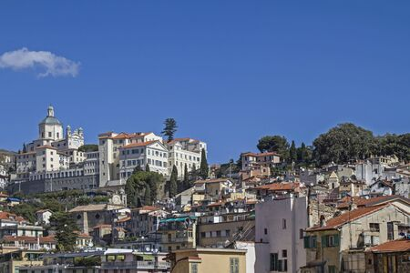 madonna: The Sanctuary of the Madonna della Costa above San Remo is a very popular place of pilgrimage Stock Photo