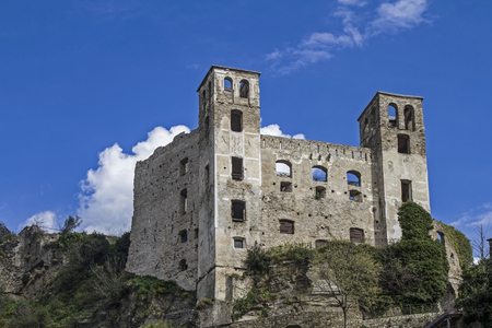 hinterland: The small Ligurian town of Dolceacqua is dominated by a mighty castle Editorial