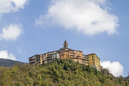 castel: Castel Vittorio popular destination in the Ligurian Apennines