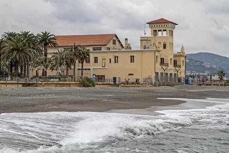 bathhouse: Bathhouse in Loano a popular resort on the Riviera Ponente