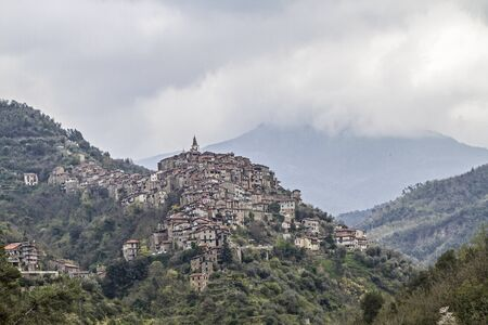 apennines: Apricale popular destination in the Ligurian Apennines