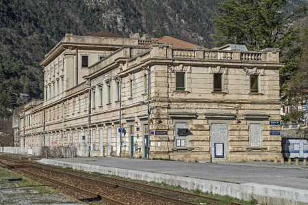 pompous: Station in San Dalmas de Tende martial and pompous building in the small village on the French border with Italy