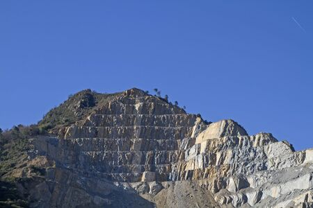 overburden: Giant stone quarry in Liguria in Ventimiglia