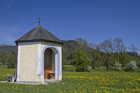 piety: Meadow Chapel with Blomberg in spring