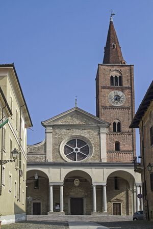 cattedrale: Cattedrale di San Guido deralten in the center of the spa town of Acqui Terme in Piedmont Stock Photo