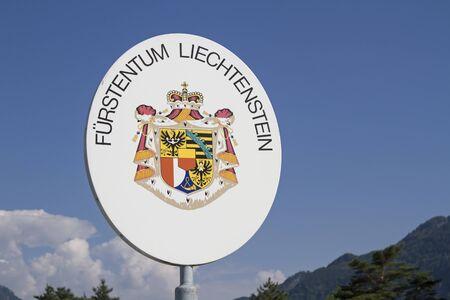 liechtenstein: International border - here begins the country of Liechtenstein