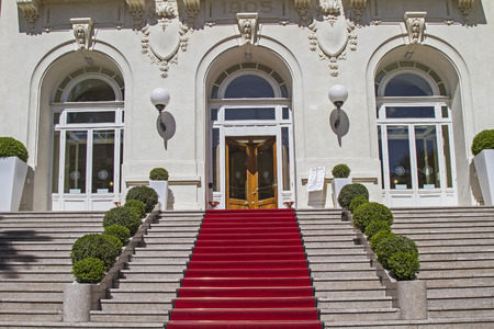 pomp: Red Carpet - welcome greeting for, winning, dignitaries or VIPs Editorial