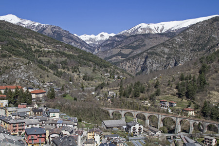 ende: ende, French border town and namesake of the famous and attractive Tenda railway line between Ventimiglia and Cuneo Stock Photo