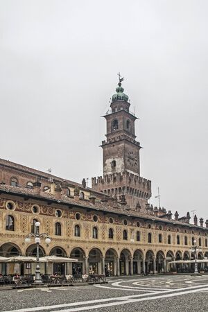 renaissance: Vigevano - is worth the rectangular Piazza Ducale built with numerous Renaissance palaces and its magnificent dome Editorial
