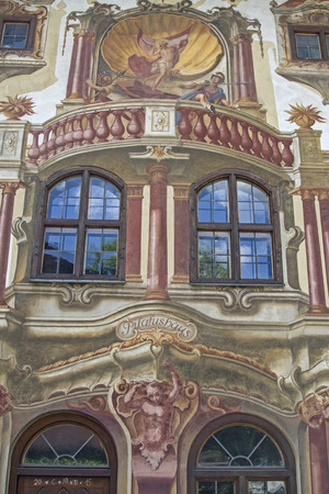 especially: The Pilatus house in Oberammergau is known especially for its outstanding paintings Stock Photo