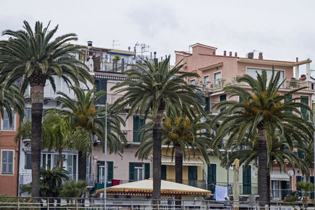 riviera: Loano - popular tourist resort on the Riviera Ponente Stock Photo