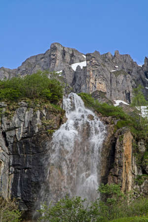 In the ascent to the Klausen Pass, you pass this impressive waterfall