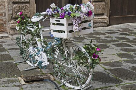 adorned: Decorative Ladies bike adorned with flowers