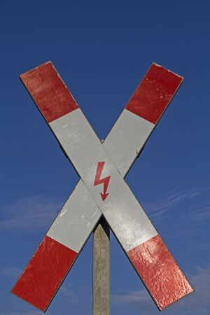 andrews: St Andrews Cross; -  Warning signal, which can be found in front of each  railway crossing