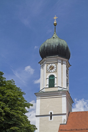 onion valley: St. Peter and Paul, the Catholic parish church of Oberammergau was built in the Baroque style