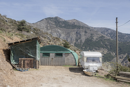 sheepfold: More expedient Sheepfold mobile shepherds hut in the French Roya Valley