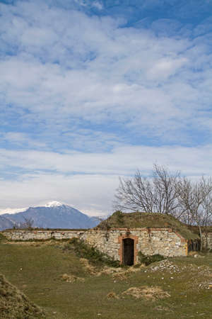 apennines: Forte Grande Monte Croce - old war securing in the Ligurian Apennines