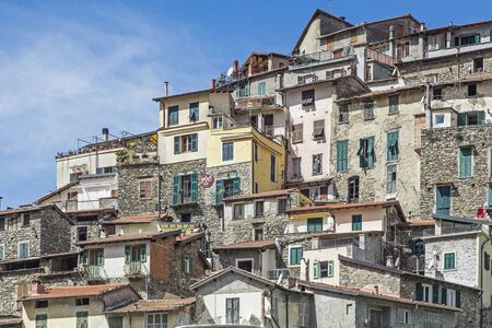 apennines: Houses in Pigna - a popular destination in the Ligurian Apennines