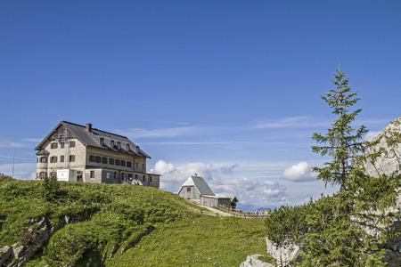 Rotwand hut - popular mountain hut in Upper Bavaria Mangfall mountains