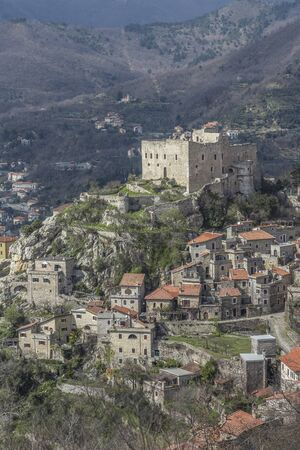 hinterland: Castelveccio di Rocca Barbena -  Ligurian village in the hinterland of the Italian Riviera