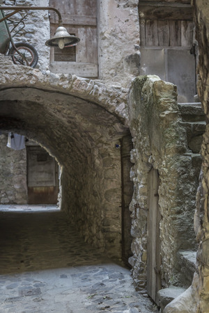 torri: Impressions and details from the small Ligurian village of Torri Stock Photo