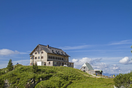 mountain hut: Rotwand hut - popular mountain hut in Upper Bavaria Mangfall mountains