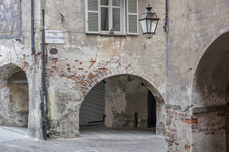 cuneo province: Alley in Saluzzo a town in the Italian province of Cuneo in the Piedmont region.