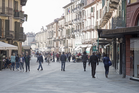 cuneo province: Stroll in the center of Saluzzo a town in the Italian province of Cuneo in the Piedmont region. Editorial