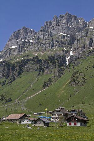 settlement: Small pasture settlement on the Urnerboden in Switzerland
