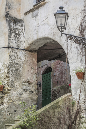liguria: Detail from Dolcedo in Liguria