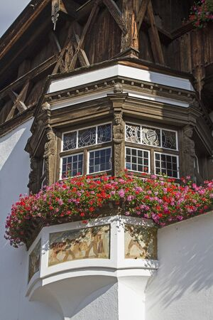 artful: Artful oriel on the town hall from Schliersee