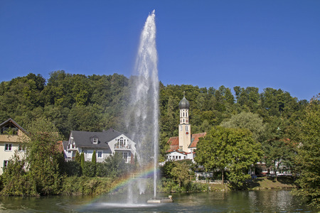 Wolfratshausen, former county town with the river Loisach Reklamní fotografie