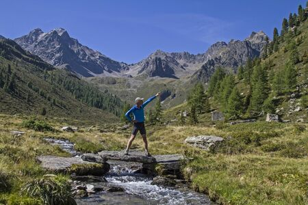gush: Hikers in the Ötztal shows to the summit he wants to achieve today