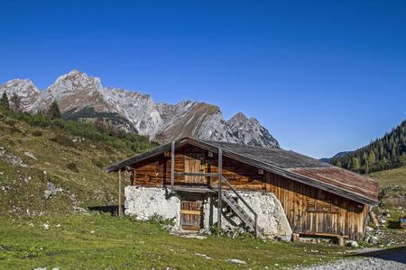 idyllic: Ladizalm - idyllic mountain lodge in karwendel mountains