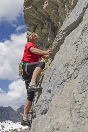 friction: Climbing on Bonistock in Central Switzerland