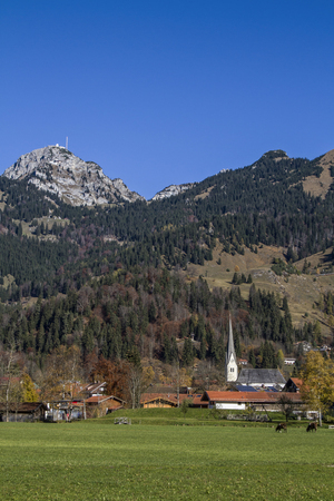 blight: Bayrischzell - idyllic Upper Bavarian village at the foot of the Wendelstein