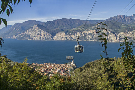 From Malcesine, a popular and much-visited destination on the eastern shore of Lake Garda you can take the cable car to Monte Baldo